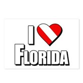 Scuba: I Love Florida Postcards (Package of 8)