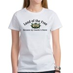 Land of the Free, Coastie Women's T-Shirt
