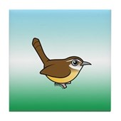 Birdorable Carolina Wren Tile Coaster