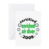 Enriched Air Diver 2008 Greeting Card
