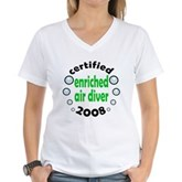 Enriched Air Diver 2008 Women's V-Neck T-Shirt