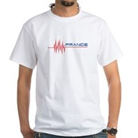 FRENCH HEARTBEAT White T-Shirt