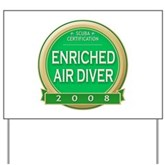 Certified Nitrox Diver 2008 Yard Sign
