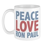 Peace Love Ron Paul Mug