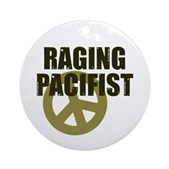 Raging Pacifist Ornament (Round)