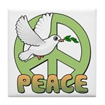 Birdorable Peace Dove Tile Coaster