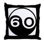 60th Birthday Throw Pillow