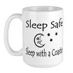 Sleep Safe Sleep with a Coastie Large Mug