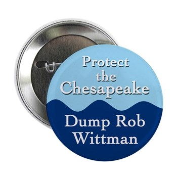 Protect the Chesapeake Dump Rob Wittman (anti-Wittman campaign button)