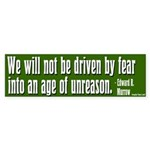 Edward R. Murrow Quote Bumper Sticker