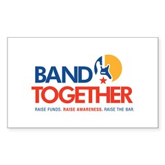 Band Together logo Rectangle Sticker 10 pk)