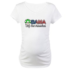 Obama 1up for America Maternity T-Shirt