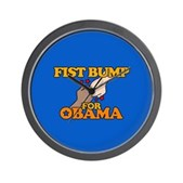 Fist Bump for Obama Wall Clock
