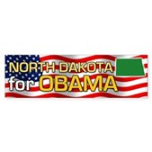 North Dakota for Obama Bumper Sticker