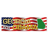 Georgia for Obama Bumper Sticker