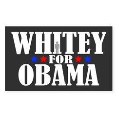 Whitey For Obama Sticker (Rectangle)