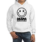Obama Makes Me Smile Hooded Sweatshirt