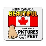 Canada Severed Foot Mousepad
