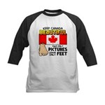 Canada Severed Foot Kids Baseball Jersey