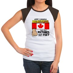 Canada Severed Foot Women's Cap Sleeve T-Shirt