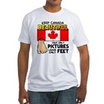 Canada Severed Foot Fitted T-Shirt