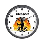 Firefighter Heat Wall Clock