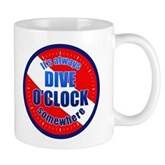 It's Dive O'Clock Somewhere Mug