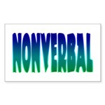nonverbal Sticker (Rectangular)