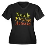 Totally Flaming Autistic Women's Plus Size V-Neck