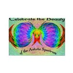 Celebrate Autistic Spectrum Rectangle Magnet