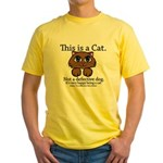 This is a Cat Yellow T-Shirt