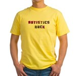 Autistics Rock Yellow T-Shirt