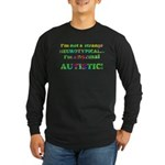 Normal Autistic Long Sleeve Dark T-Shirt
