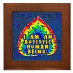 I Am Human Framed Tile