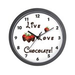 Live Love Chocolate Wall Clock