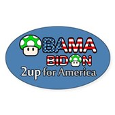 2up for America Oval Sticker