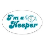 I'm A Keeper Oval Sticker