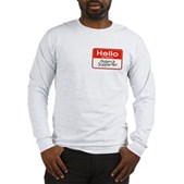 Obama Supporter Name Tag Long Sleeve T-Shirt