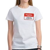 Obama Supporter Name Tag Women's T-Shirt