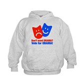 Vote Obama: No Drama! Kids Hoodie