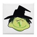 Happy Green Witch Tile Coaster