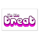 Retro I'm the Treat Rectangle Sticker 10 pk)