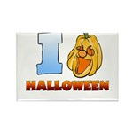 I Love Halloween Rectangle Magnet (10 pack)