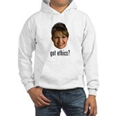 Anti-Palin Got Ethics? Hooded Sweatshirt