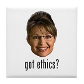 Anti-Palin Got Ethics? Tile Coaster