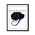 Wake Me When It's Over Framed Panel Print