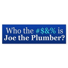 Who Is Joe The Plumber Sticker (Bumper)