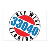 Key West 33040 Postcards (Package of 8)