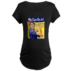 We Can Do It in 2012 Maternity Dark T-Shirt