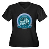 Open Water Diver 2009 Women's Plus Size V-Neck Dar